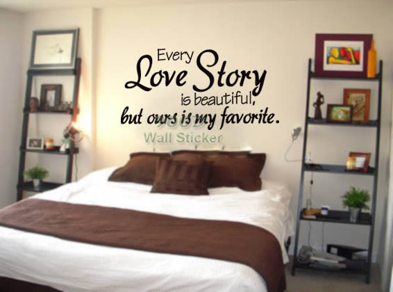 Online Shop Every Love Story Is Beautiful But Ours Is My Favourite Wall Stickers Home Decor Diy Vinyl Wall Stickers Home Decoration Aliexpress Mobile