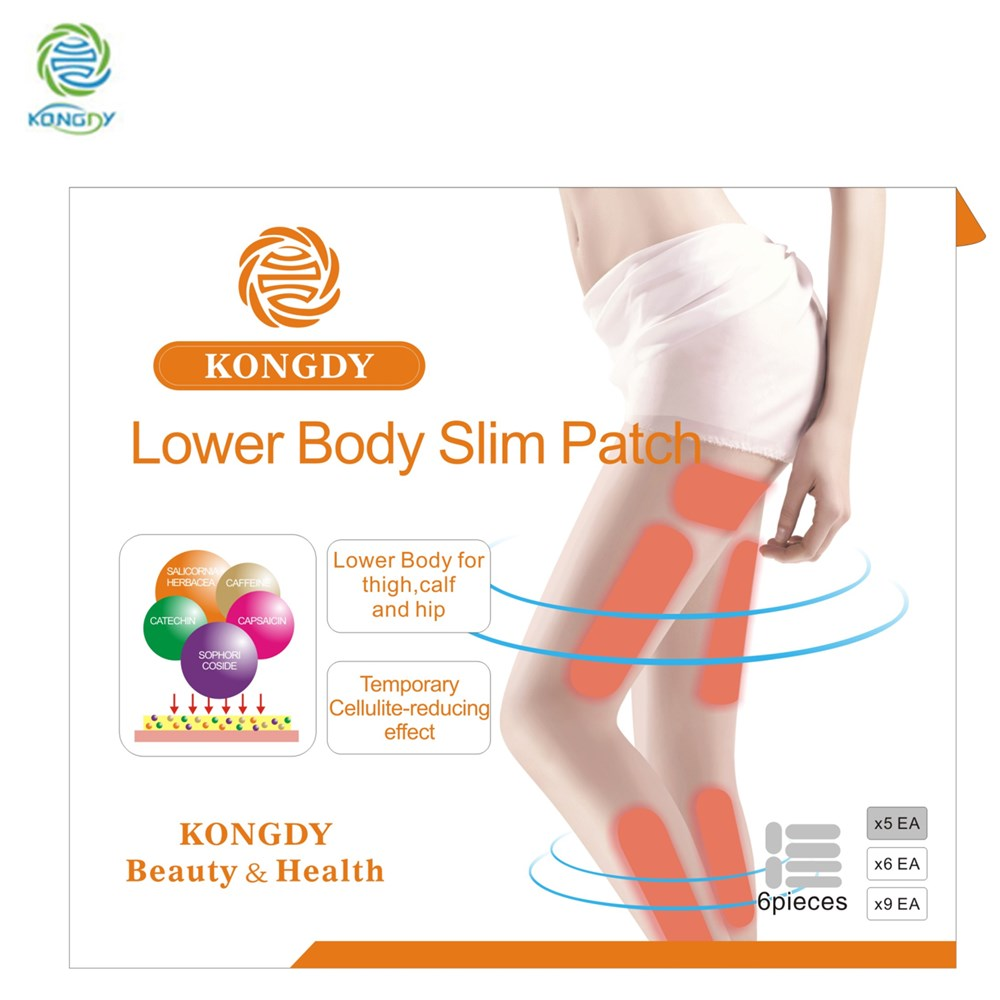 30 Pieces /Box KONGDY New Arrival Lower Body Slim Patch Fat Burning Paster Leg Thigh Arm Belly Hip Slimming Weight Lose Patch