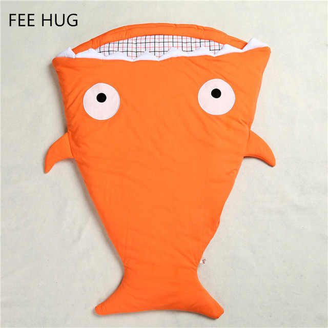 Envelope Newborns Baby Shark Sleeping Bag For Winter Strollers Bed Swaddle Blanket Wrap Cute Cartoon Bedding Sleep sacks 8 Color