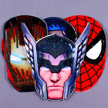 Pulaqi Sequin Avengers Patch On Clothes DIY Sewing On Patches Embroidered Reversible Patches For Clothing Kids T-Shirt Applique sequins patches avengers led light patch embroidered patches for clothes diy sewing on patches for clothing applique stripe f