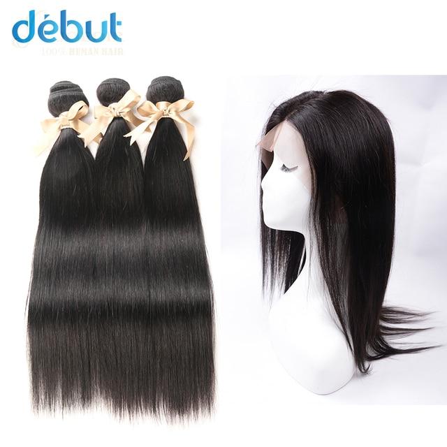 Debut Brazilian Hair Weave Bundles Silky Straight 12 26 Inch Human