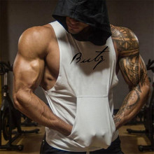 Mens Bodybuilding Tank Top Gyms Fitness Workout Cotton Hooded Vest Male Summer Casual Fashion Sleeveless Hoodie Brand Sweatshirt