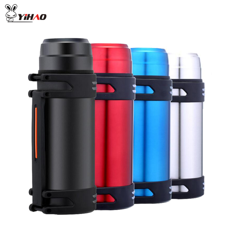 YiHAO 2000ML High-Capacity Travel Pot Gift Custom Insulation Cup Outdoor Sports Bottle Stainless Steel Vacuum Flasks Cups