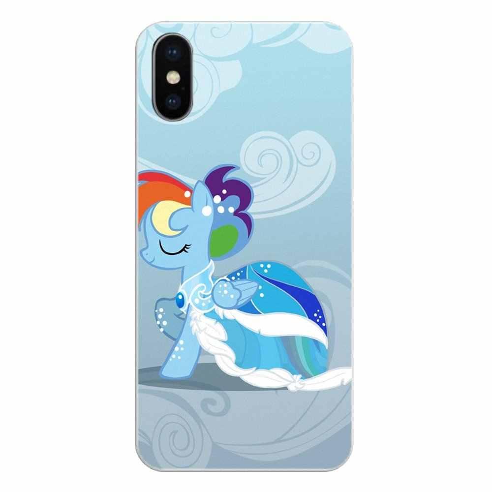 Красочные с рисунком из мультфильма «Мой Маленький Пони» юбкой всех цветов радуги; платье для huawei Honor 7X V10 6C V9 6A играть 9 Коврики 10 Pro Y7 Y5 P8 P10 Lite Plus GR5 2017 крышка