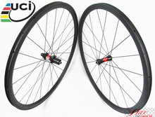 Farsports FSC30-CM-25 DT240S(36 Ratchets) 30mm carbon racing bike clincher wheel, 700c race bicycle clincher 25mm width wheel