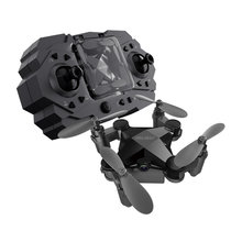 Remote Control Aircraft Mini Drone Folding Fixed Height Four-axis Aircraft Aerial Boy Toy Wide-angle WiFi Camera HD Foldable folding high definition aerial 4 axis drone portable 0 5mp hd camera wifi drone remote control aircraft rc drone with camera