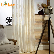 Circles & Flowers Embroidered Voile Curtains For Living Room Bedroom Window Tulle Elegant Sheer In Balcony Custom Made