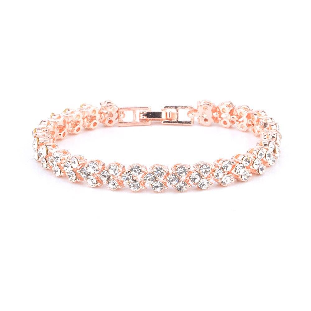 4378793066_873398036 - DIEZI Exquis Luxe, Bracelet En Cristal Romain, Rose Or Argent Couleur ,