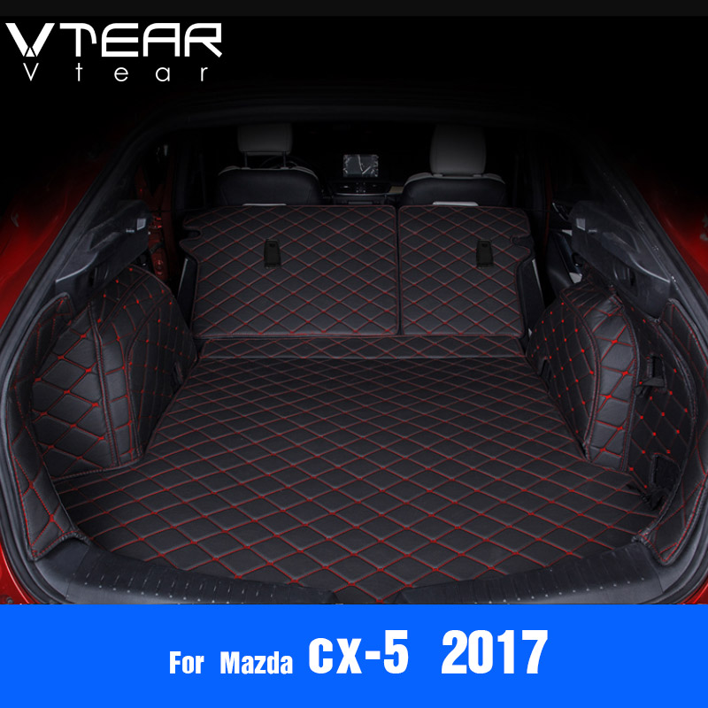 Vtear For Mazda CX-5 CX5 2017 2018 Cargo Liner car trunk mat carpet interior Floor Mats leather pad car-styling accessories for mazda cx 5 cx5 2012 2013 2014 2015 2016 accessories interior leather floor carpet inner car foot mat
