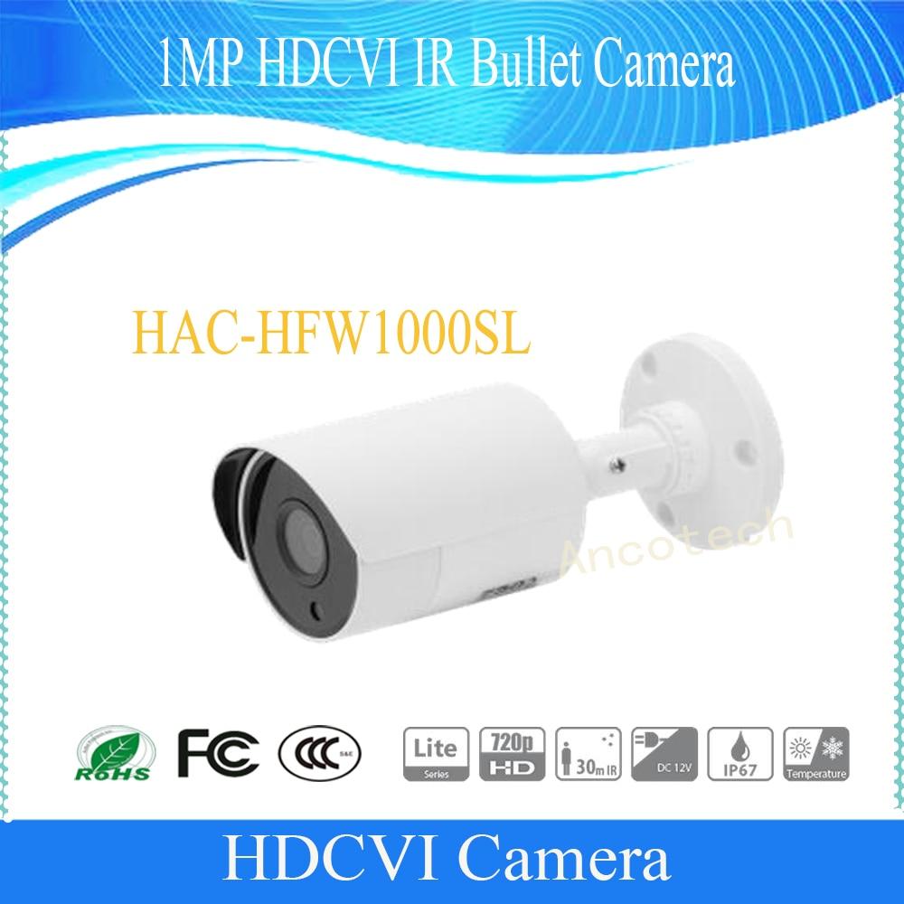Dahua Free Shipping CCTV 1MP 720P 1MP HDCVI IR Bullet Camera IP67 Without Logo HAC-HFW1000SL free shipping dahua cctv security camera 1mp hdcvi ir bullet camera ip67 without logo hac hfw1100sl