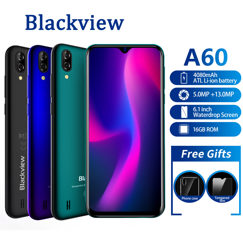 Blackview A60 3G Mobile Phone Quad Core Android 8 1 4080mAh Cellphone RAM 1GB ROM16GB 6