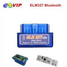 Мини ELM327 Bluetooth 2,0 интерфейс V2.1 OBD2 OBD 2 автоматический диагностический инструмент ELM 327 работает на Android Torque/PC v 2,1 адаптер BT