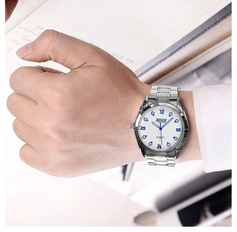Quartz Watch Men's Stainless Steel Mesh Band Watches Mens Top Brand Fashion Bracelet Analog Wrist Watches Relogio stylish bracelet band women s quartz analog wrist watch coffee golden 1 x 377