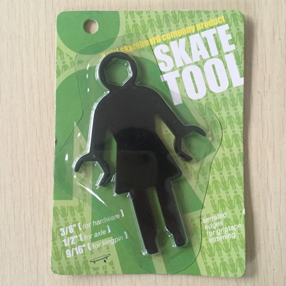 GIRL Shape Skate Tool Skateboard Tools Multi-Functional Screwdrivers For Skateboard Longboard Cruiser Tool Kits