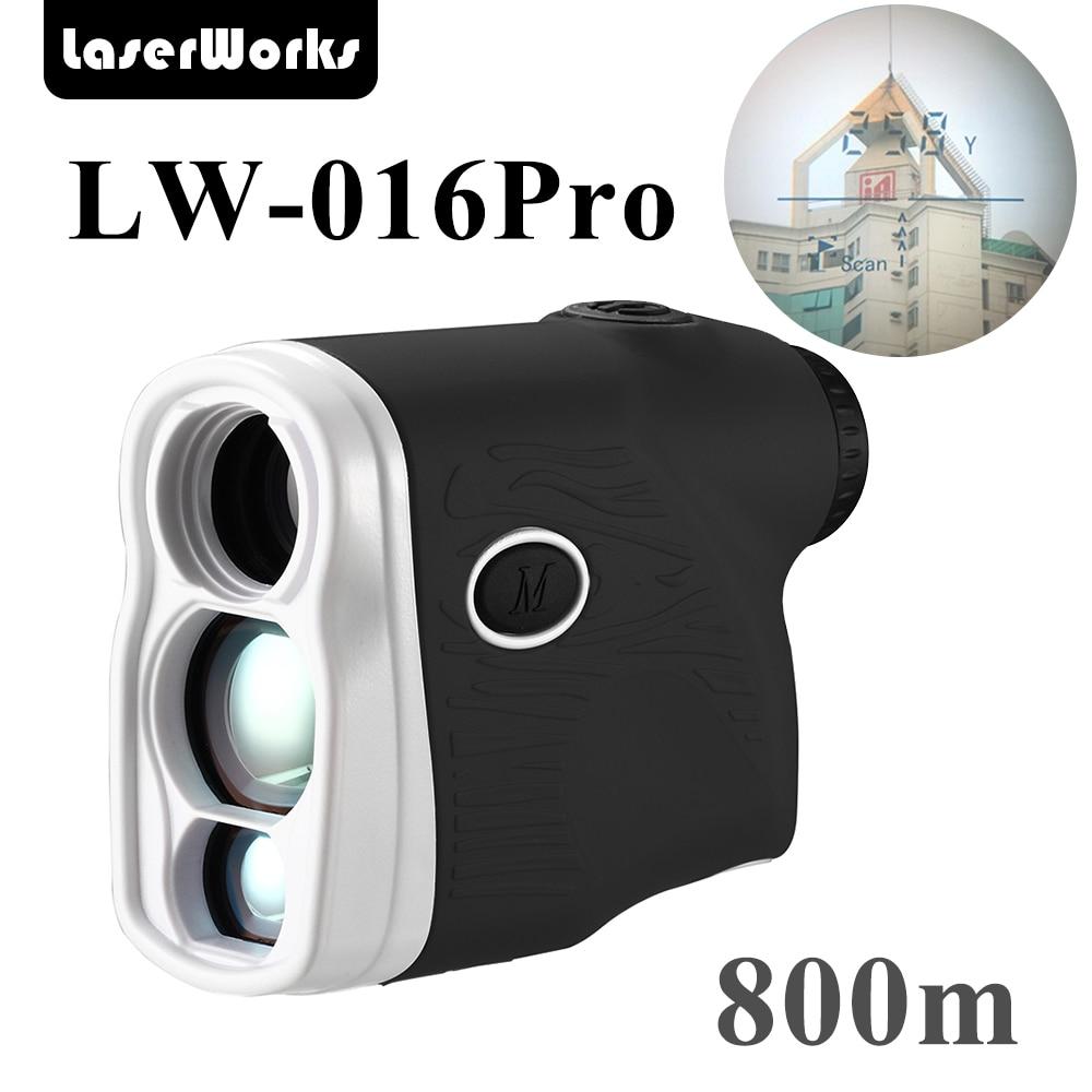 LaserWorks láser telémetro 800 Metro Medición de la altura del árbol función múltiple medidor de distancia láser