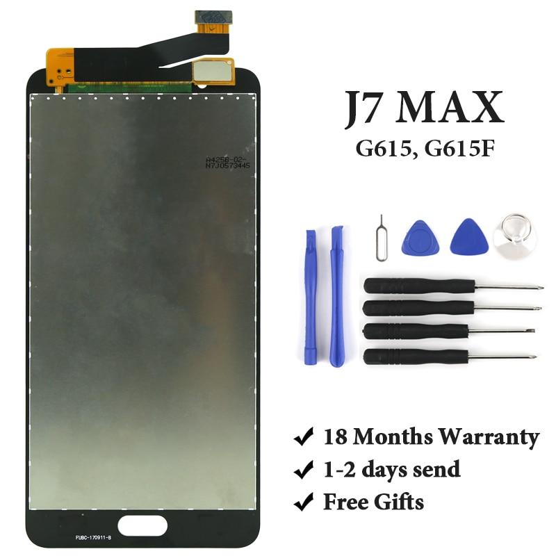 5.7 ''noir blanc or affichage pour Samsung Galaxy J7 Max G615 G615F LCD écran tactile numériseur assemblée pièces de rechange