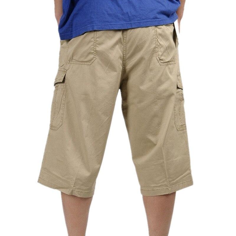 05ef4f468b3 Large size 6XL 2018 Summer Men s Baggy Multi Pocket Military Zipper Cargo  Shorts Male Long Army Green Khaki Men Tactical Shorts