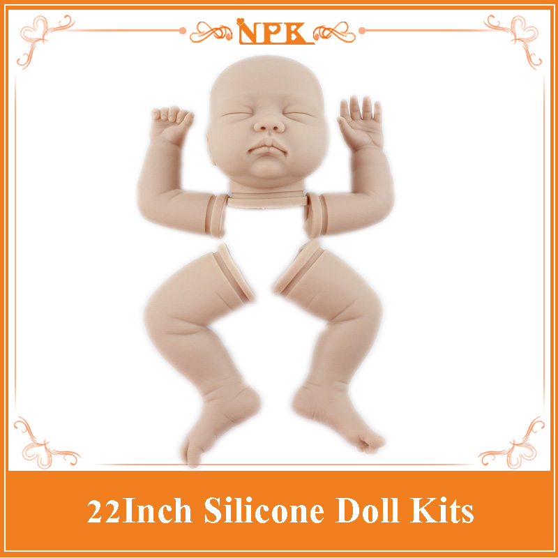 Silicone Vinyl Realistic Reborn Doll Kit Vinyl Silicone Kit  DIY 22inch Reborn Baby Doll Good Quality Doll Accessories For KidsSilicone Vinyl Realistic Reborn Doll Kit Vinyl Silicone Kit  DIY 22inch Reborn Baby Doll Good Quality Doll Accessories For Kids