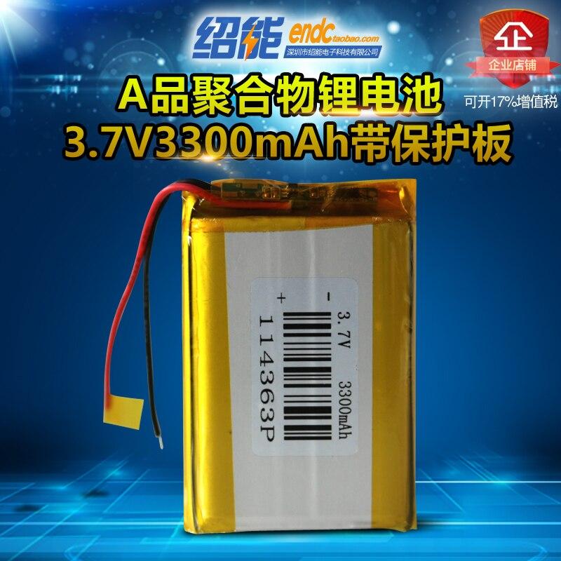 For 3pcs 3.7v 3300mah li-polymer 114363 environmental data acquisition tester power class li po ion lipo rechargeable batteries