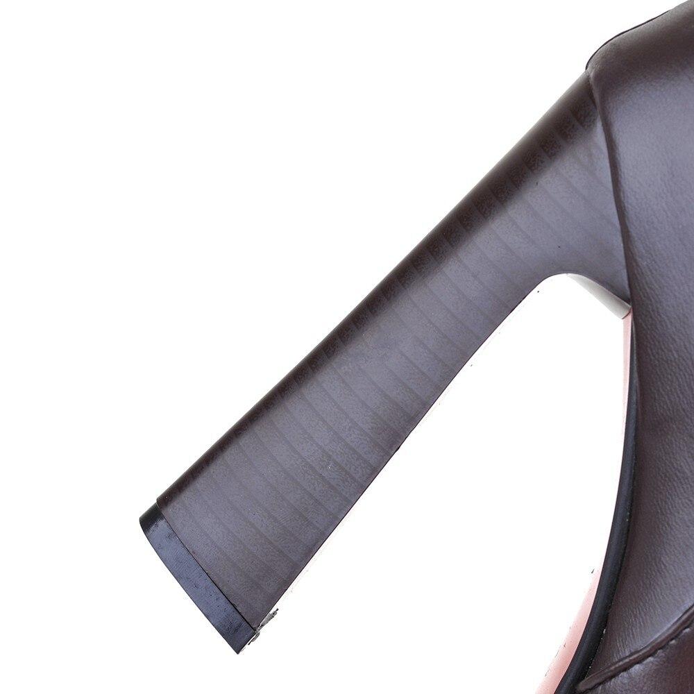 Talons Le Haut Bottes Super Noir Sexy Élastique Genou Noir Brun marron Sur Talon Blanc Et blanc Party Mince 2019 Hauts Club Chaussures À Femmes Bande X0w5xnw7
