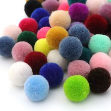 100Pcs/lot Nylon Loose Spacer Mixed Color Plush Ball Bead For Jewelry Finding Handmade Earrings Necklace Diy Accessories