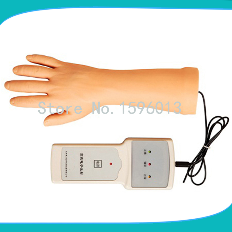 Advanced Electronic IV Training Hand Model,arm veinpuncture model economic injectable training arm model with infusion stand iv arm injection teaching model