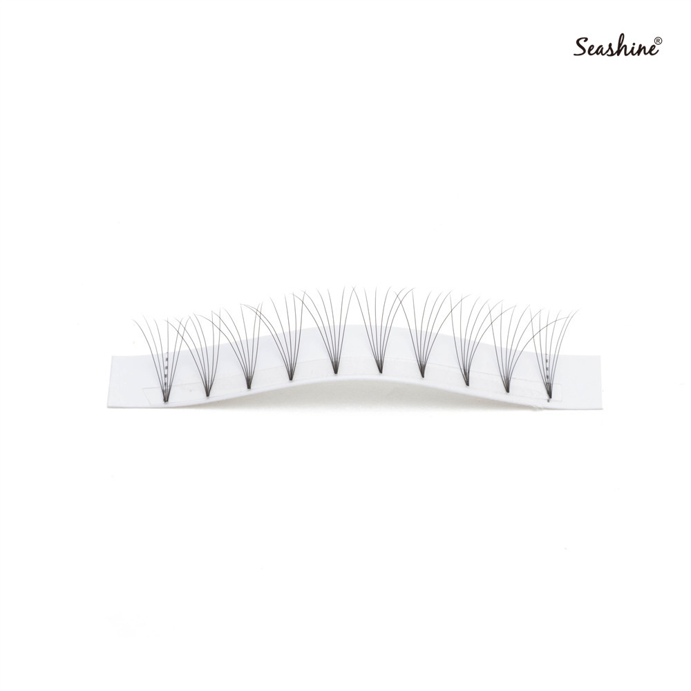 Seashine Cheaper Short Stem Premade Fans 8 15mm Russian Volume Lash Extension Synthetic Hair Premade Volume Fans Lashes Supplies in False Eyelashes from Beauty Health