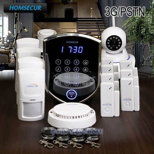HOMSECUR Wireless 3G/Phone Line Home Security Alarm System +Wireless IP Camera homsecur wireless