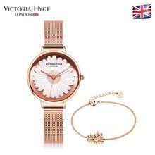 Victoria Hyde Montres Dames Marguerites Fleur Montre,Bracelet Daisy Bracelet  Quartz Montre Femme Horloge Étanche