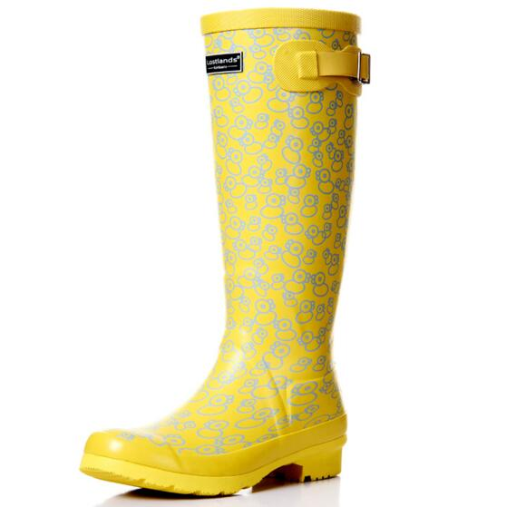 aa95d43029cb Free shipping high quality comfortable handsome women's rain boots fresh  rubber duck