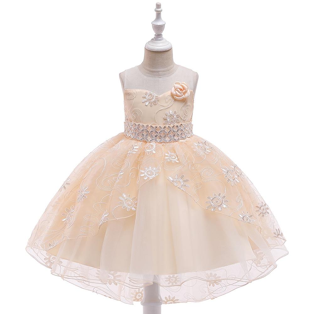 Champagne Ballgown Tulle Tutu   Dresses   Ballgown   Flower     Girl     Dresses   For Weddings Kids First Communion   Dresses