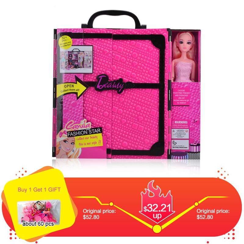 UCanaan Fashionista ultime placard poupée jouet mode princesse poupées jouets vêtements et robe garde-robe poupée