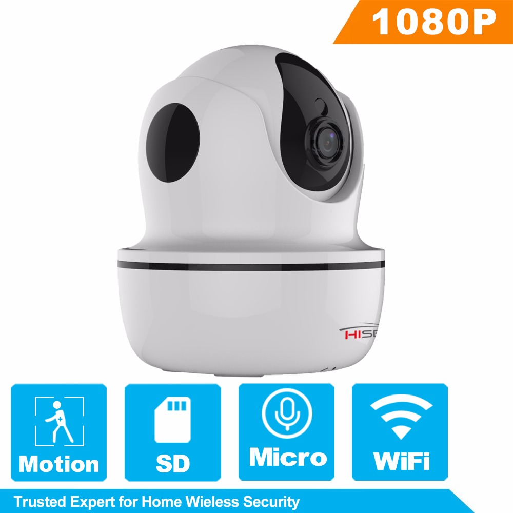 HiSecu WiFi IP Camera Home Security Wireless IP Camera 1080P Two Way Audio Baby Monitor Night Vision Built-in SD Card slot hisecu home wifi ip camera night vision wireless 720p 110 two way audio video monitor smart webcam indoor security camera