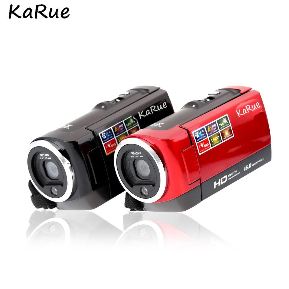 KARUE 10 pièces DV-107 HD 720 P 16X Zoom 2.7 pouces caméra Photo numérique reconnaissance faciale enregistreur vidéo caméscopes professionnels DHL