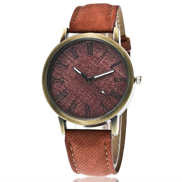 Zegarek damski jeansowa opaska różne wzory retro
