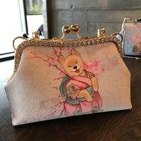 Professiona Handmade DIY Crafts Material Package For Fashion Women Handbag (23x13x8cm) Metal opening Frame Bag Gift