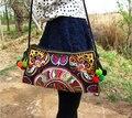 2015 национальный trend этническая Вышитые сумки ручной двусторонний вышивка Messenger плечо сумка сумки