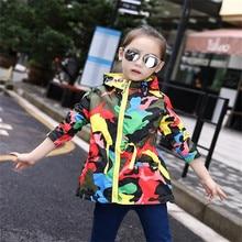 купить AJLONGER Baby Girls Jackets Hooded Windproof Kids Clothing Pattern Girls Coats Spring Autumn Children Outerwear & Coats дешево