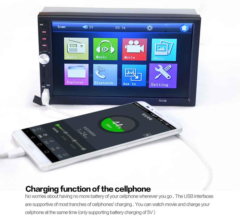 7012B BluetoothV2 0 Car Video Player 7 inch Touch Screen Auto font b Audio b font