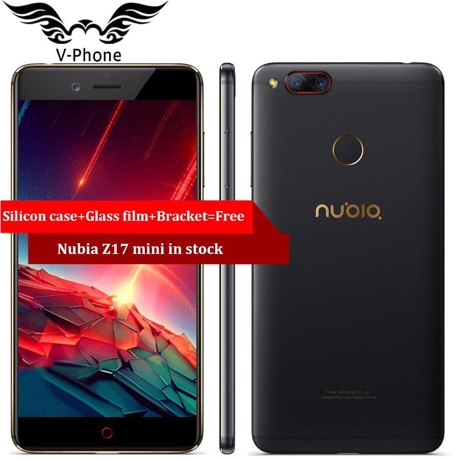 Globale ROM ZTE Nubia Z17 mini LTE 4G Handy 6 GB 64 GB 5,2 zoll Snapdragon 653 Dual Rückfahrkamera 13MP + 13MP Fingerabdruck NFC