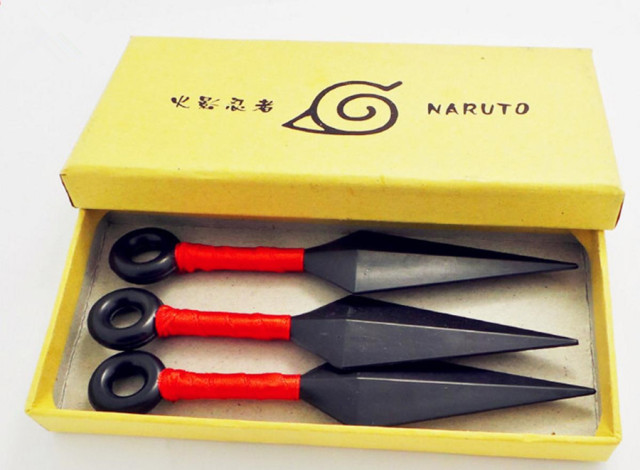 3PCS Naruto Kunai Shuriken Weapon Props Cosplay