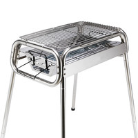 Outdoor home stainless steel outdoor barbecue rack large folding portable barbecue stove charcoal oven