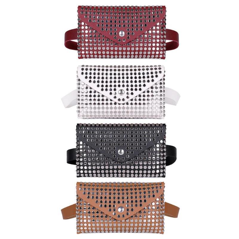 Rivet Flip Leather Shoulder Clutch Women Waist Pack Chest Crossbody Bag
