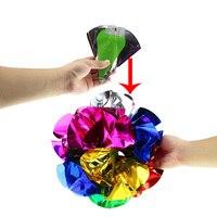 Appearing Ball Flower Magic Spring Flower Bouquet Magic Tricks Props Close Up Street Magic Tricks Novelty