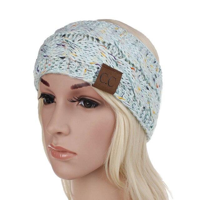 Women Winter  Solid Wide Knitting Woolen Headband Warm Ear Crochet Turban Hair Accessories For Women Girl Hair Band Headwear 3