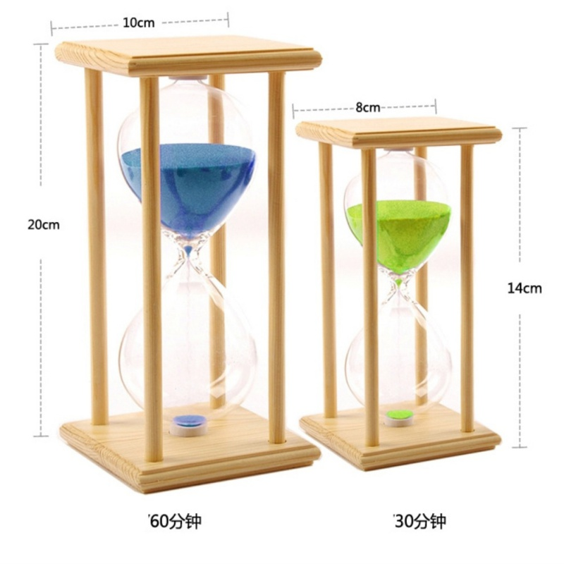 30/60 Sand Clock Minutes Hourglass Home Decoration Sand Timer For Kitchen School Modern Wooden Hour Glass Sandglass Tea Timers