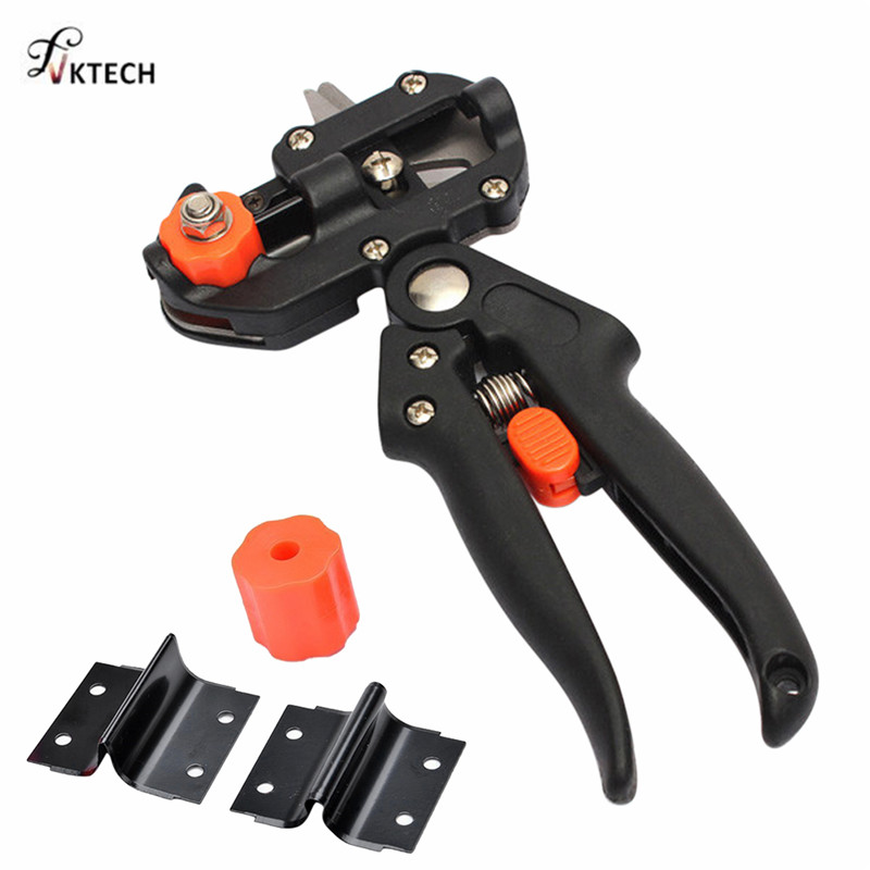 Garden Tools Pruner Chopper Vaccination Cutting Tree Garden Grafting Tool With 2 Blades Plant Shears Scissors Secateurs Dropship