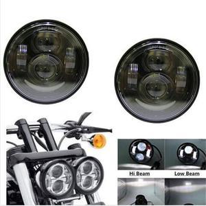 "Image 2 - 2 × 4.65 ""motoサイクルled motoヘッドランプ用moto rcycle fxdf 08 16"