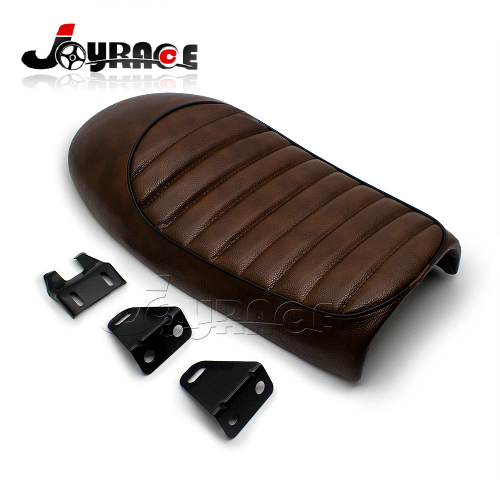 Brown Cafe Racer motorcycle seat Parts CG125 CB 250 350 550 650 Black SEAT GN125 GN250