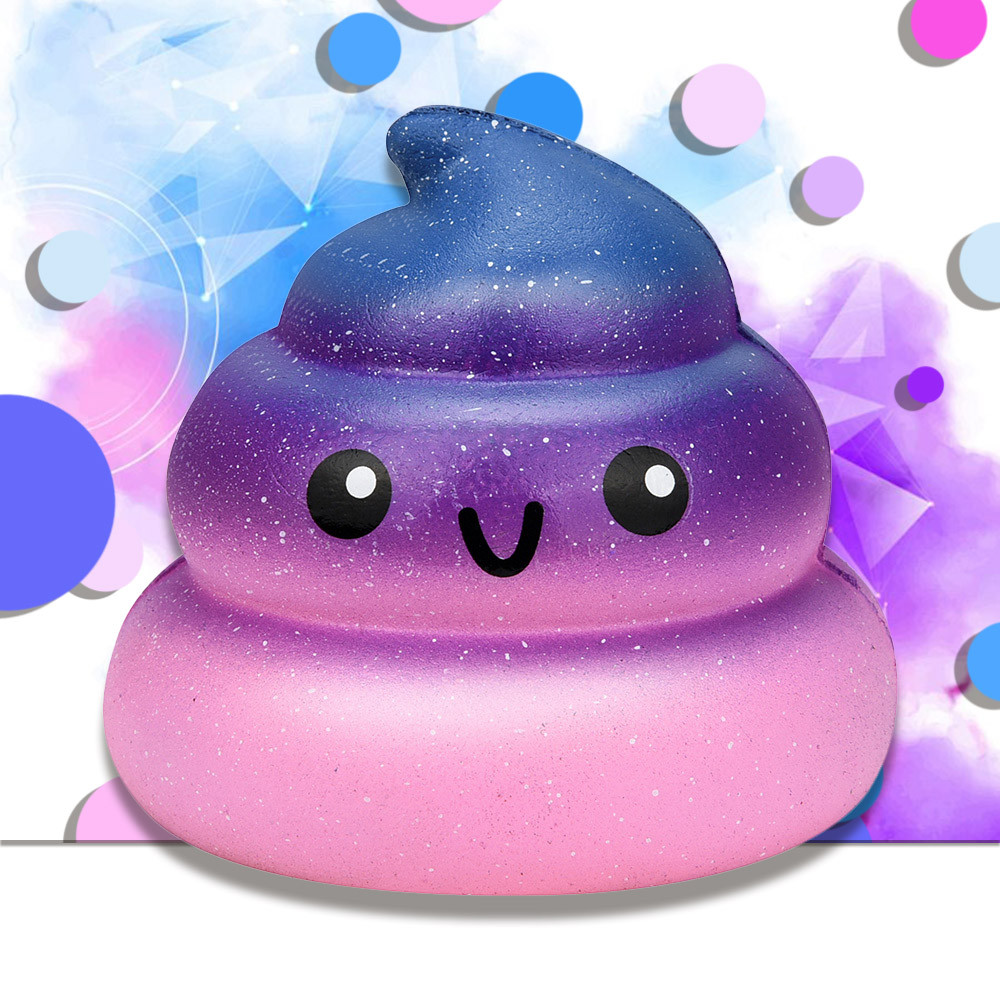Fun Galaxy Poo Scented Squishy Charm Slow Rising Stress Reliever Toy Decompression Toys For Children  W510